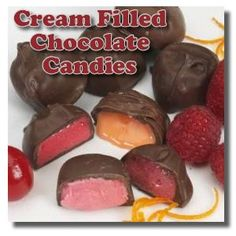Cream Filled Chocolate Candies - there are 3 basic recipes to choose from and from there you can add your choice of flavorings including different liqueurs