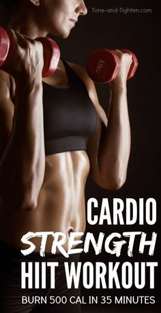 35 minute workout you can do at home that burns 500 calories! Tone-and-Tighten.com