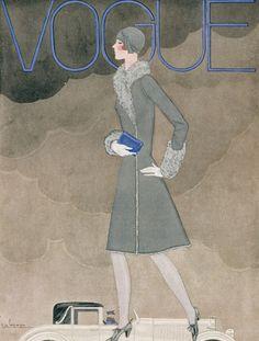 Vogue UK Cover - October 1928 - Fashion illustration by Georges Lepape - Condé Nast Publications