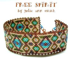 Julie Ann Smith Designs FREE SPIRIT Bracelet Odd Count Peyote