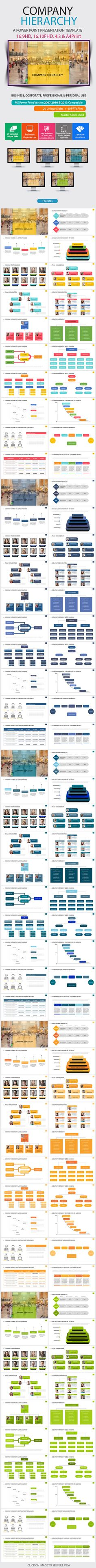 Company Hierarchy Power Point Presentation - Business PowerPoint Templates