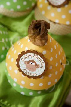 1st Year Monkey Birthday Party - Design Dazzle
