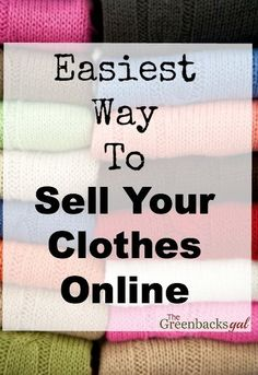 Seriously. You need to clean out your closet and use this. It is the easiest way to sell your clothes online.