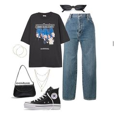 Discover recipes, home ideas, style inspiration and other ideas to try. Teenage Outfits, Teen Fashion Outfits, Edgy Outfits, Mode Outfits, Retro Outfits, Grunge Outfits, Look Fashion, Korean Fashion, Vintage Outfits
