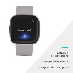 Fitbit Versa 2 Health & Fitness Smartwatch with Heart Rate, Music, Alexa Built-in, Sleep & Swim Tracking, Stone/Mist Grey, One Size (S & L Bands Included) - GemHome Fitness Depot, Outdoor Camera, Black Friday 2019, Cyber Monday Sales, Diy Games, Fashion Deals, Heart Rate, Strength Training