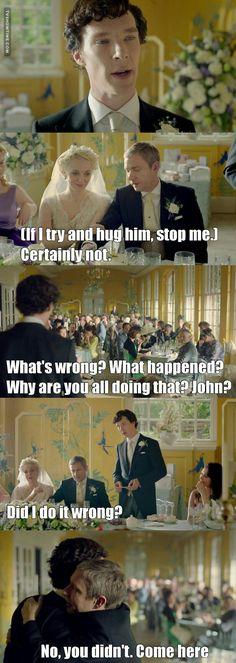 I am crying<<< The best man speech, Sherlock you are the best man! Sherlock Bbc, Sherlock Fandom, Benedict Cumberbatch Sherlock, Sherlock Quotes, Watson Sherlock, Funny Sherlock, Benedict And Martin, John Martin, Detective