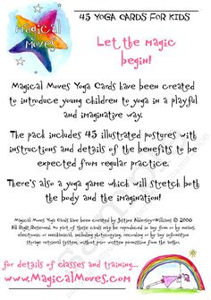 45 Printable Children's Yoga Cards to by TeachChildrenYoga on Etsy
