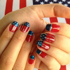 4th of July nail design