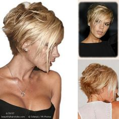 Victoria Beckham Short Hairtyle Long Celebrity Hairstyles - Overview of Celebrities With Gorgeous Ha Layered Bob Hairstyles, Short Bob Haircuts, Short Haircut, Easy Hairstyles, Haircut Bob, Blonde Graduated Bob, Victoria Beckham Short Hair, Victoria Beckham Hairstyles, Short Celebrities