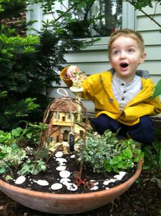 I built a fairy garden with my 3-year old grandson.