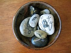 Spirit rocks? Ms. Shabby? Right up your alley.  painted rocks, stone art