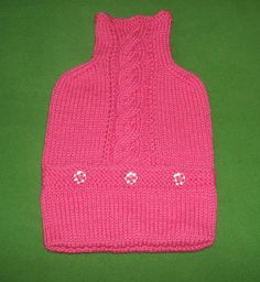 handgestrickter+pinkfarbener+Wärmflaschenbezug+von+Der+Family-Shop+auf+DaWanda.com