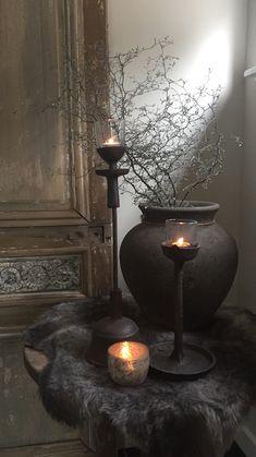 - MidNight ForYou - MidNight ForYou - (notitle) - Monika Hemsath - - MidNight ForYou Metalen verouderde kandelaar Wohnaccessoires Wohnaccessoires Take a closer look at this trendy room! Wabi Sabi, Rustic Charm, Rustic Decor, Decoration Inspiration, Interior Decorating, Interior Design, Candle Lanterns, Sweet Home, Room Decor