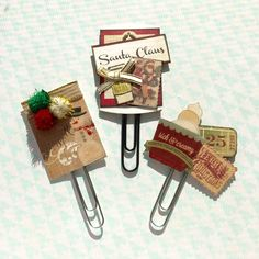 Holiday Journal Clips and Embellishments by Jackie Benedict