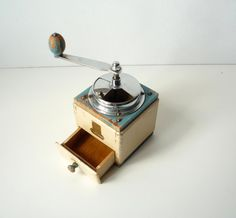 VINTAGE COFFEE  GRINDER  Wooden coffee grinder  by RedChiliPeppers, $56.00