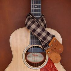 Hey, I found this really awesome Etsy listing at https://www.etsy.com/listing/260158731/brown-plaid-guitar-strap