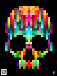 DIA DE LOS MUERTOS ☠~Day of the Dead. could use perler beads to recreate?