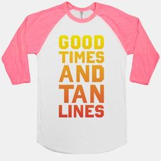 good times tan lines | about this style the american apparel 50 50 baseball tee is a half and ...