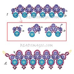FREE beading pattern for necklace PRIMA | Beads Magic#more-9590. Use: pearls 4mm and 6mm, seed beads 11/0 and (Toho) seed beads 15/0. Page 2 of 2