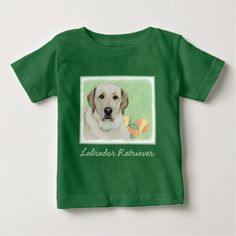 #Labrador Retriever (Yellow) Baby T-Shirt - #labrador #retriever #puppy #labradors #dog #dogs #pet #pets