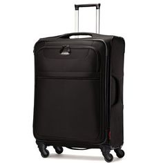 Samsonite Lift Spinner 21  Inch Expandable Wheeled Luggage Black One Size *** Read more  at the image link.