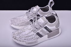 cbfda2084 2018 New adidas Originals NMD R1 Primeknit Grey Glitch Camo BY9865 Nmd  White