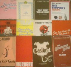 Wonderful collection of 12  Theatre Programmes from the 1970s TP05