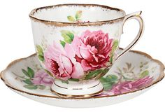 Vintage Royal Albert bone china cup and saucer from Kishani Perera