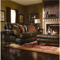 Bernhardt Foster Leather Sectional Sofa with Nailhead Trim - Story & Lee Furniture - Sofa Sectional Leoma, Lawrenceburg, Memphis, Chattanoog...  http://www.storyandlee.com/Item.aspx?ItemID=741609679&ItemNum=5091L%2b5092L