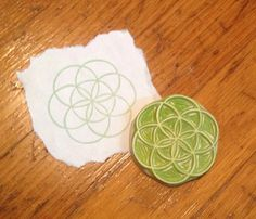 Sacred Geometry Seed of Life Rubber Stamp Hand Carved
