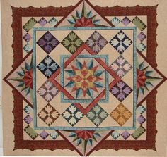 There are several techniques used in this quilt - paper piecing, applique