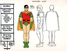 Super Friends Model Sheets by Alex Toth