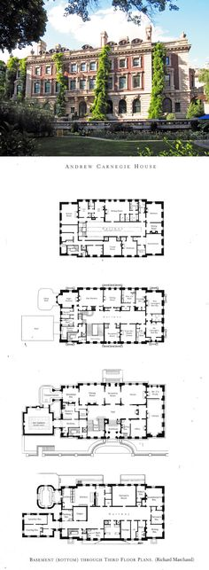 Floorplans for Gilded Age Mansions. - SkyscraperPage Forum Andrew Carnegie House
