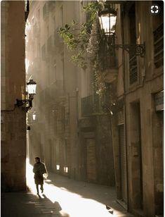 Morning scene in Barcelona - Spain