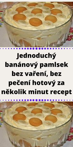 Slovak Recipes, Cereal, Oatmeal, Cheesecake, Deserts, Food And Drink, Pudding, Breakfast, Mascarpone