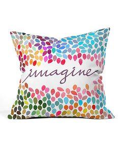 Love this Garima Dhawan 'Imagine' Throw Pillow on #zulily! #zulilyfinds