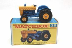 No.39 Ford Farm Tractor & Original Box by Matchbox Lesney England 60's toy Car Great Gift Idea Stocking Stuffer  for Dad by RememberWhenToys on Etsy