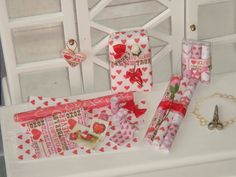 Dollhouse Valentines gifts.112 dollhouse by ANABELAMINIATURES