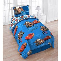Disney Cars 4Piece Reversible Twin Bedding Set with Bonus Tote ** You can find more details by visiting the image link.