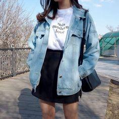Korean Fashion: 20 Korean Looks for Inspiration and Moda coreana: 20 Looks coreanos para se inspirar e copiar Korean Fashion: 20 Korean Looks to Be Inspired and Copied - Tumblr Outfits, Swag Outfits, Mode Outfits, Cute Casual Outfits, Girl Outfits, Fashion Outfits, Fashion Fashion, Fashion Ideas, Fashion Spring