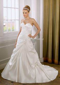 bunched with flowers wedding dress - Google Search