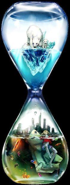 Countdown by Wenqing Yan [Yuumei art] Yuumei Art, Street Art, Wow Art, Gcse Art, Art Design, Art Plastique, Oeuvre D'art, Les Oeuvres, Fantasy Art