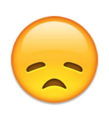 visage déçu