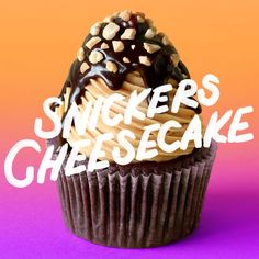 Deliciousness happens when you combine a chocolate bar, cupcake and caramel cheesecake.