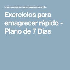 Exercícios para emagrecer rápido - Plano de 7 Dias