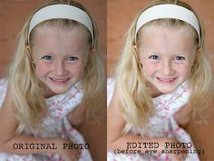 How to sharpen eyes in a photograph Eye sharpening before and after