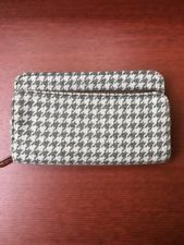 Thirty-One - Perfect Cents Wallet - Black and Grey Houndstooth - EUC