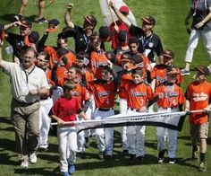 The Cumberland American Little League baseball team marches in the opening ceremony of the 2014 Little League World Series Thursday. #RI