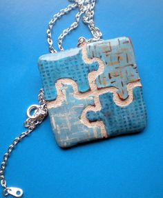 puzzle piece necklace