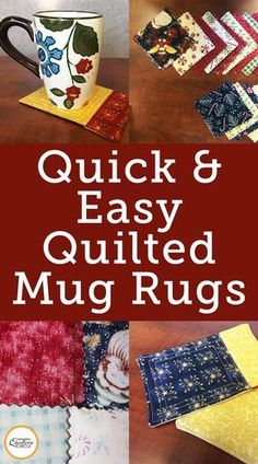 Fantastic 50 sewing hacks tips are offered on our internet site. look at this and you wont be sorry you did. Mug Rug Patterns, Sewing Patterns Free, Free Sewing, Quilt Patterns, Canvas Patterns, Sewing Hacks, Sewing Tutorials, Sewing Crafts, Sewing Tips
